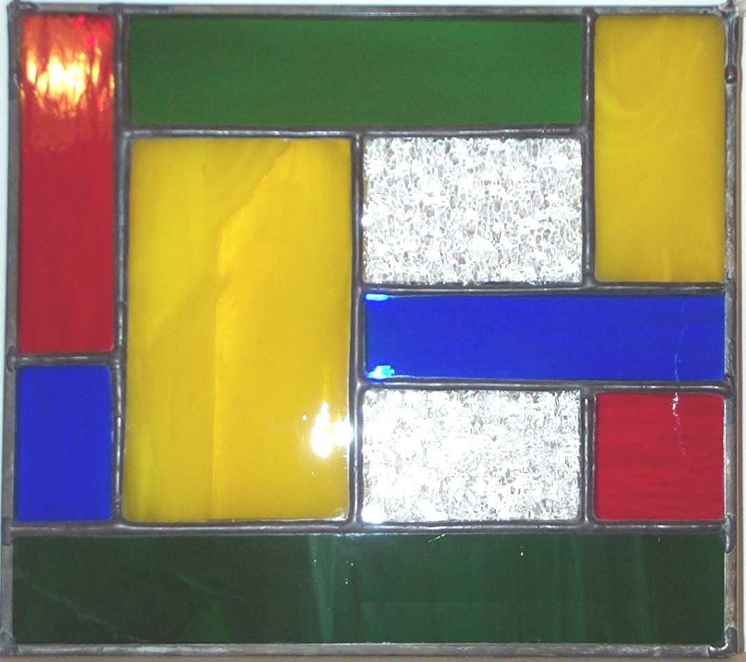 bevels and colored glass